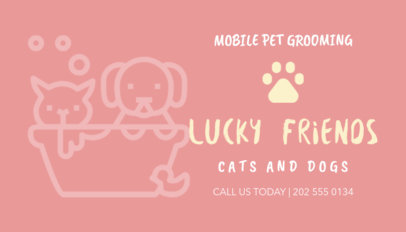 business card maker for pet bath businesses - Dog Grooming Business Cards