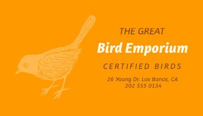 Bird Shop Business Card Maker 298d