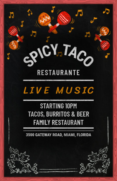 Flyer Maker for a Mexican Family Restaurant 371e