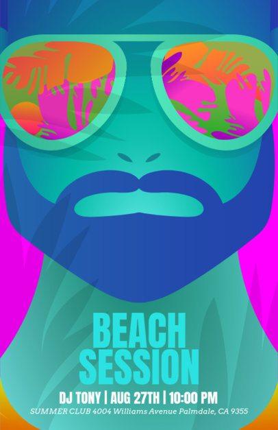 Online Flyer Maker for Beach & DJ Party 147e