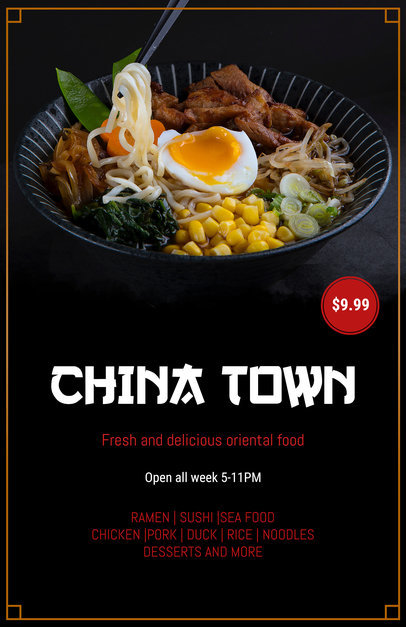 Flyer Maker for Asian Restaurants 363