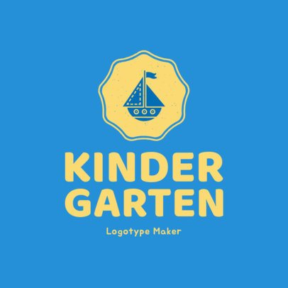 Kindergarten Logo Maker 1177e