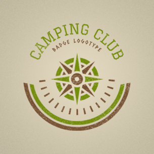 Online Logo Maker for Travel Agency with Camping Spots 1148a