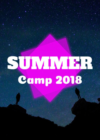 Summer Camp T-Shirt Design Maker 21e