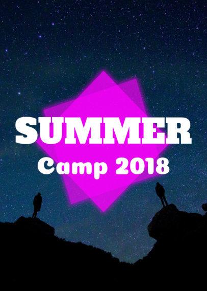 Summer Camp T-Shirt Design Maker 21e