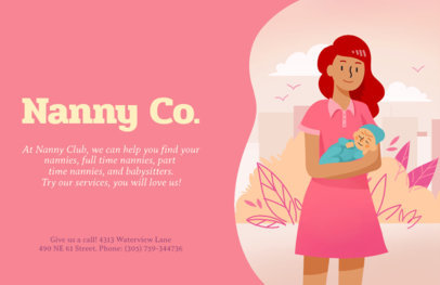 Online Flyer Maker for Nannies 379c