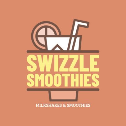 Online Logo Maker for a Smoothie Shop with Glass Clipart 1235c
