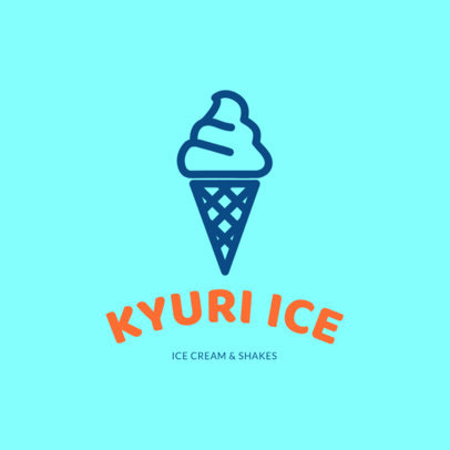 Ice Cream Brand Logo Maker 1240d