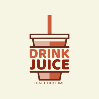 Juice Bar Logo Maker with Cup Icon 1235F