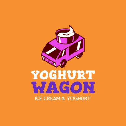 Online Logo Maker for a Frozen Yogurt Truck 1241c