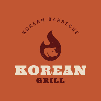 Online Logo Maker for Korean Food 1222a