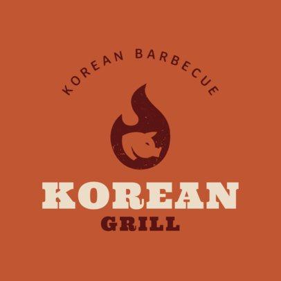 Online Logo Maker for Korean Food 1222a
