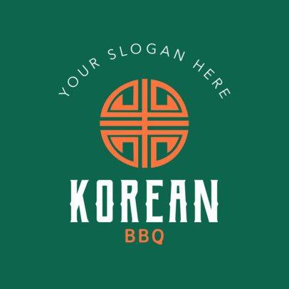 Online Logo Maker for a Korean BBQ 1222b