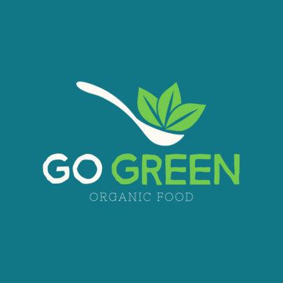 Organic Food Restaurant Logo Maker 1236b