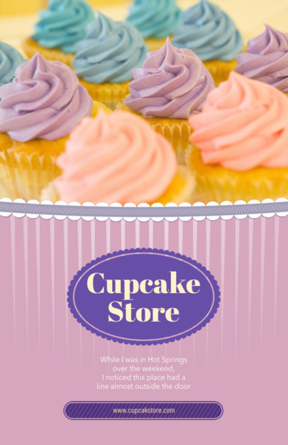 Cupcake Shop Flyer Maker with Pastel Colors 379a