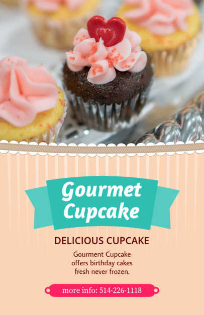 Flyer Maker for Cupcake Stores 379d