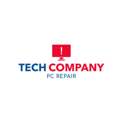 Custom Logo maker for Tech Shops 1252e