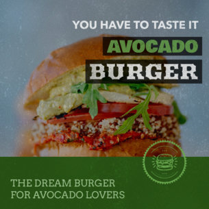 Promotional Banner Maker for Vegan Burger Restaurants 372a