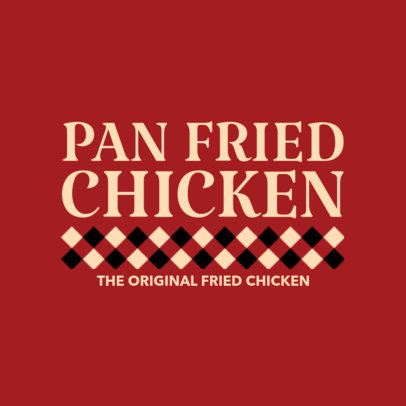 Logo Design Template for Pan Fried Chicken 1231e