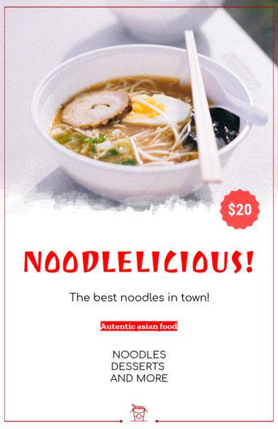 Online Flyer Maker for Asian Restaurants with Ramen Image 363a