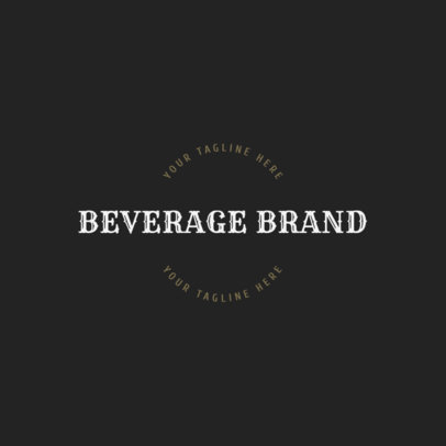 Online Logo Maker for Beverage Brands 1207d