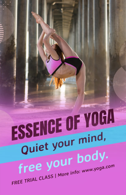 Yoga Online Flyer Maker for Fitness Business 353c