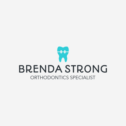 Dental Clinic Logo Maker for Orthodontics 1026e