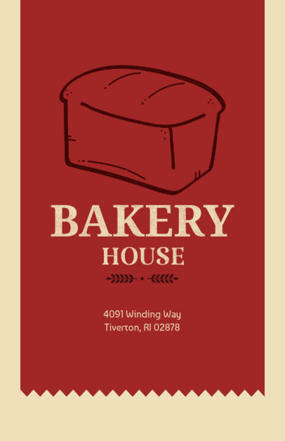 Online Flyer Maker for a Bakery with Bread Loaf  369a