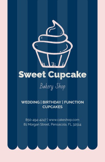 Flyer Template for a Bakery with Cupcake Clipart 369d