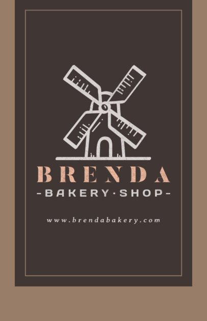 Online Flyer Maker for a Bakery Shop with Windmill Clipart 369e