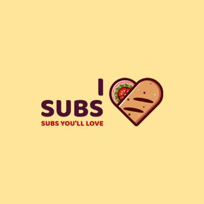 Sub Restaurant Logo Maker 1230c