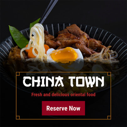 Online Banner Maker for Chinese Restaurants 364