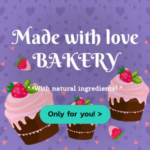 Banner Maker with Pink Cupcake Clipart 383c