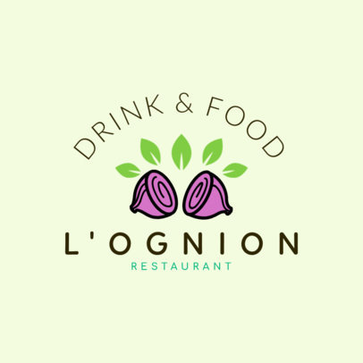 Restaurant Logo Maker for Vegetarian Restaurants 1258b