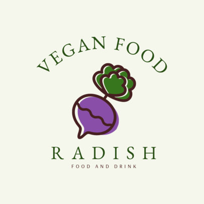 Vegan Restaurant Logo Maker 1258e