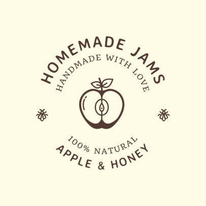Food Logo Maker for Jam Brands 1287