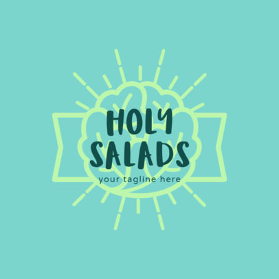 Salad Logo Maker with Lettuce Clipart 1234d