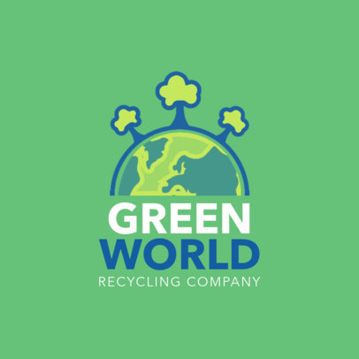Logo Maker for Recycling Companies with Earth Icon 1055a