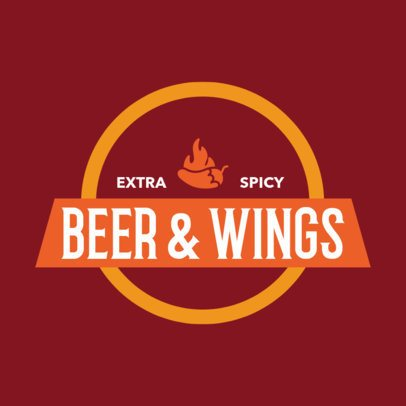 Restaurant Logo Maker for a Wings Bar 1228a