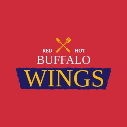 Buffalo Wings Restaurant Logo Maker 1228c