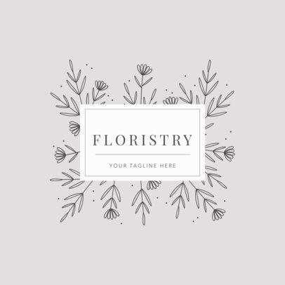 Floristry Shop Logo Maker 1270