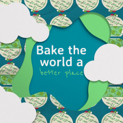 Online Banner Maker for Bakeries with Green Theme 308c