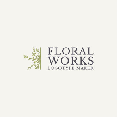 Logo Maker for Florists 1271
