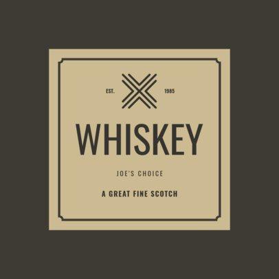 Custom Logo Maker for Alcohol Companies with Cross Icons 1249b
