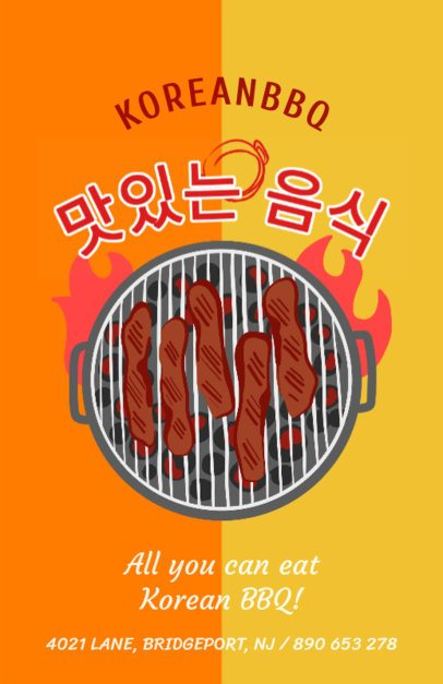 Online Flyer Maker for Korean Barbecues 385c