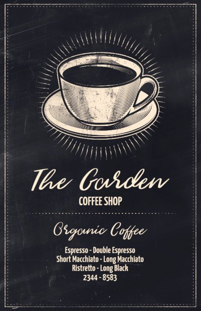 Online Flyer Maker for Coffee Shops with Chalkboard Background 406
