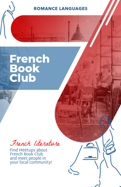 Flyer Template for a Book Club a