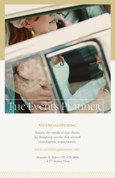 Flyer Maker for Wedding Planners with Classic Design 365a