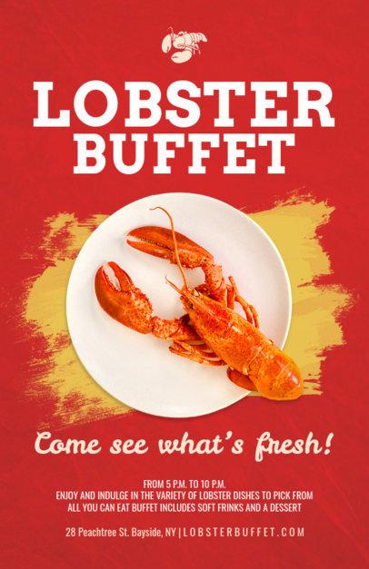 Online Flyer Maker for Seafood Restaurants 381