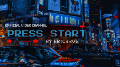 YouTube Banner Maker with Background Image of Tokyo 386a